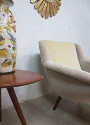 retro lounge chair armchair vintage design velvet velours