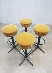 Vintage sixties bar stools bar stool, vintage kruk krukken 'Moulin rouge'