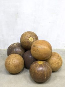 Vintage leren medicijn bal ballen, vintage leather medicine balls