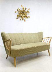 Midcentury fifties design vintage cocktail bank sofa corduroy