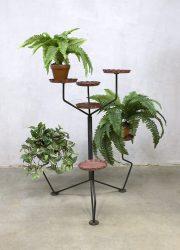 Vintage plant stand industrial flower table plantentafel industrieel
