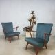 Vintage velvet rocking chairs armchairs lounge chairs 'Wiggle'