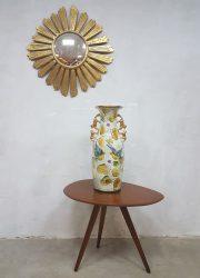 Vintage ceramic vase Henri Bequet vaas M. Depose 889