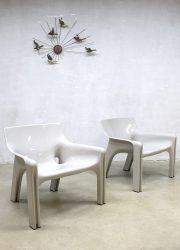 Vico Magistretti vintage design fauteuil chair 'Vicario'Artemide Milano