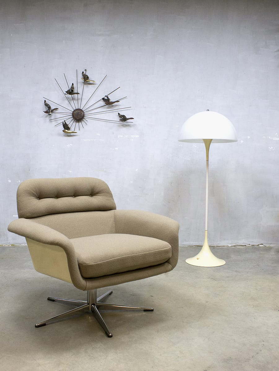 Vintage Artifort Dutch Design Swivel Chair Draai Fauteuil