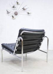 Osaka lounge chair Martin Visser 't Spectrum Mad men style Industrial chrome