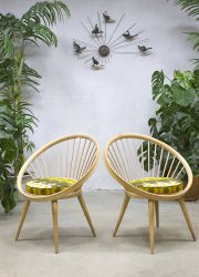 Yngve Ekström vintage circle chair spijlen stoel Swedese
