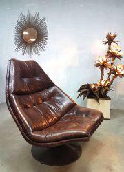 midcentury modern lounge chair swivel chair draaifauteuil Artifort G. Harcourt