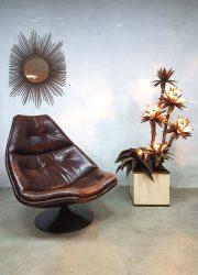 Vintage Artifort swivel chair Geoffrey Harcourt F591 draaifauteuil