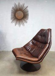 vintage Artifort swivel chair Geoffrey Harcourt F591 Dutch design retro