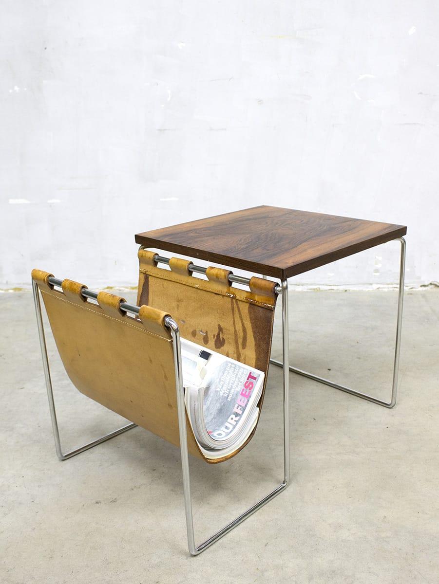 3 Vintage Bijzettafeltjes.Vintage Bijzettafeltjes Brabantia Holland Dutch Design Mimiset