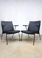 vintage lounge stoel Oase chair Wim Rietveld Dutch design
