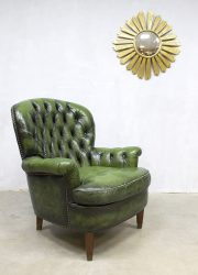 vintage leather wingback chair chesterfield chair armchair antique
