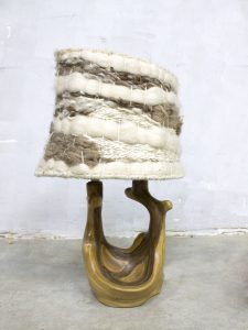 Italian vintage nature lamp organic table lamp ceramic