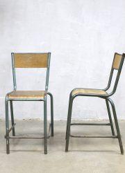 retro vintage stoel kruk Frans interieur loft