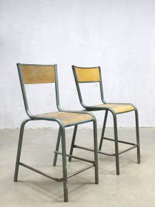 Franse vintage krukken industrieel, vintage French stools Industrial