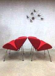 Vintage midcentury design easy chair Artifort design Piere Pauilin