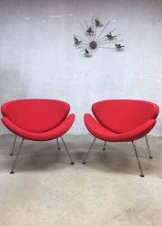 Artifort orange slice lounge chairs Pierre Paulin