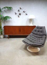 Vintage design swivel chair Artifort F588 draaifauteuil Geoffrey Harcourt