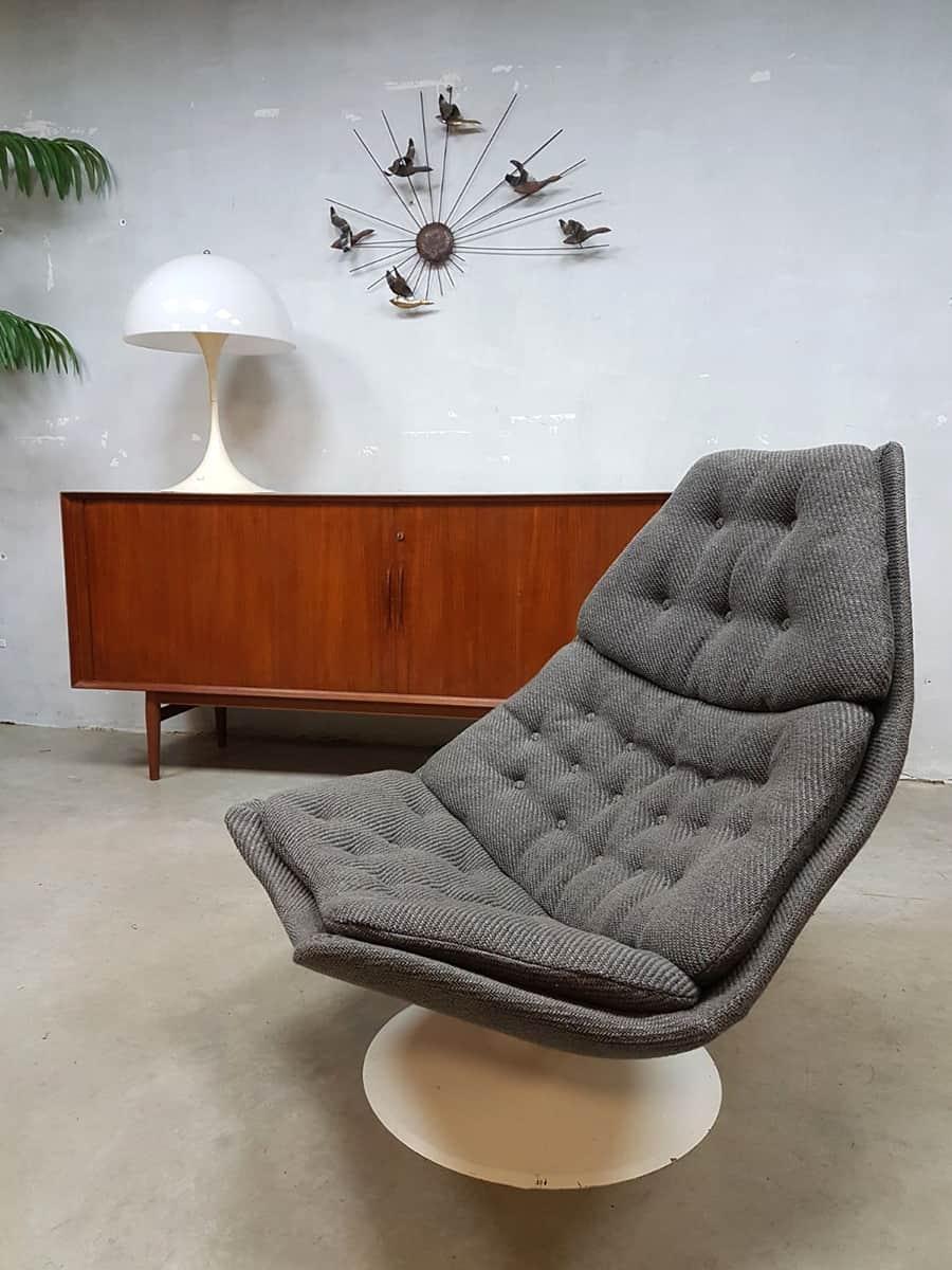 Artifort Draai Fauteuil.Vintage Design Swivel Chair Artifort F588 Draaifauteuil