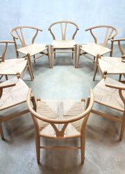 Hans Wegner Danish design wishbone dinnerchairs