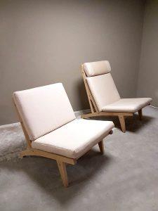 Vintage Getama lounge chair GE 375 GE370 fauteuil Hans Wegner