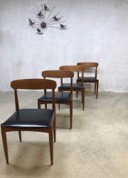 Deense vintage eetkamerstoe dinner chair Johannes Andersen Uldum