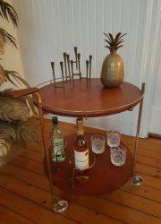 retro vintage drankentrolley theemwagen Deens, Danish barcart midcentury modern