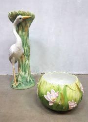 Vintage Italiaans design keramieke zuil plantenstandaard Belle Epoque bloempot