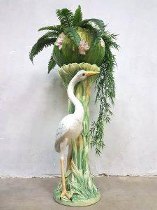 Vintage Italian design ceramic plant stand botanic Belle Epoque zuil