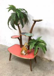 Vintage retro plant stand display flower table plantentafel fifties