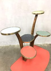 vintage plantentafel bijzettafel retro jaren 50 60 fifties sixties side table