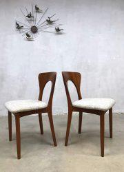 vintage deense eetkamer stoel dinner chair Peter Koefoed Hornslet