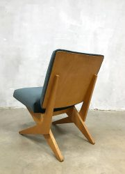 midcentury modern Jan van Grunsven Pastoe scissor chair Dutch design schaarpoot