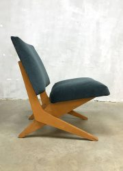 Vintage lounge chair Jan van Grunsven FB 18 Pastoe scissor chair