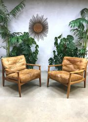 Vintage design lounge chairs fauteuils Eugen Schmidt voor Soloform