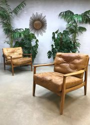 Vintage deense design fauteuils lounge chairs armchairs Danish