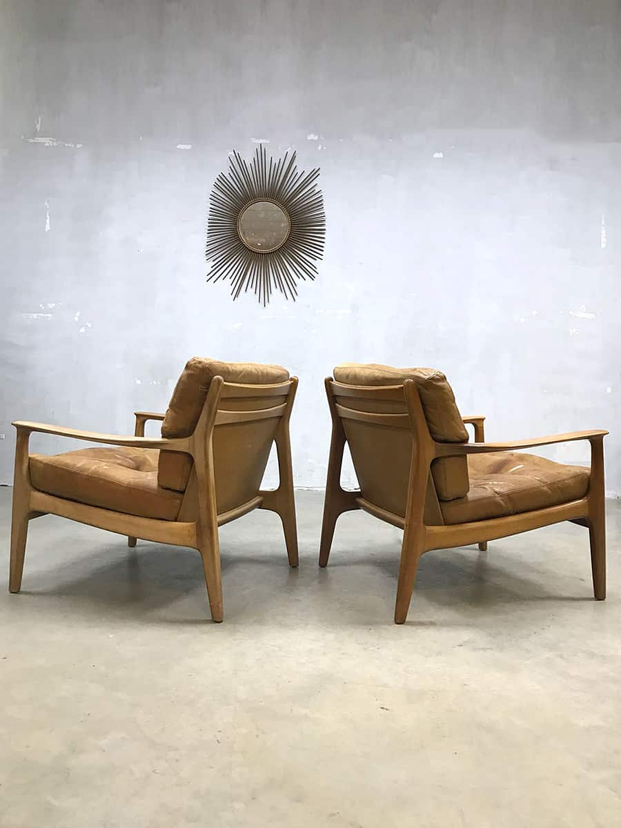 Fauteuils Retro Design.Vintage Design Lounge Chairs Fauteuils Eugen Schmidt Voor