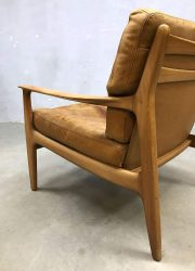 vintage design leren lounge stoel fauteuil armchair leather Soloform