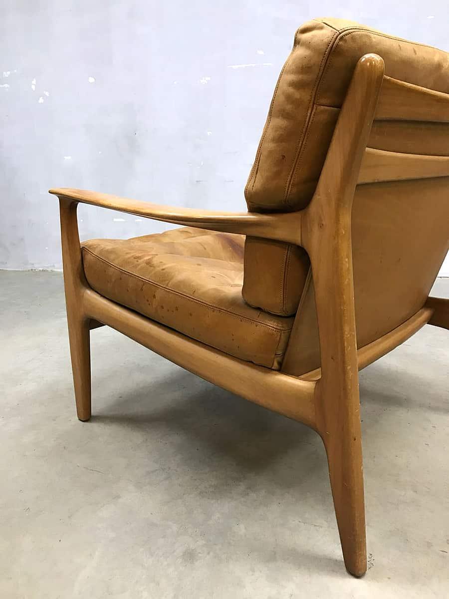 Leren Lounge Fauteuil.Vintage Design Leren Lounge Stoel Fauteuil Armchair Leather Soloform