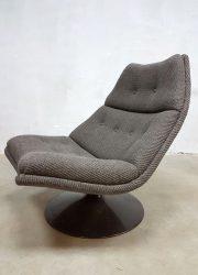vintage Dutch design lounge fauteuil swivel chair Artifort Netherlands