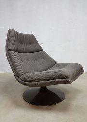 vintage design Artifort lounge fauteuil swivel chair Geoffrey Harcourt