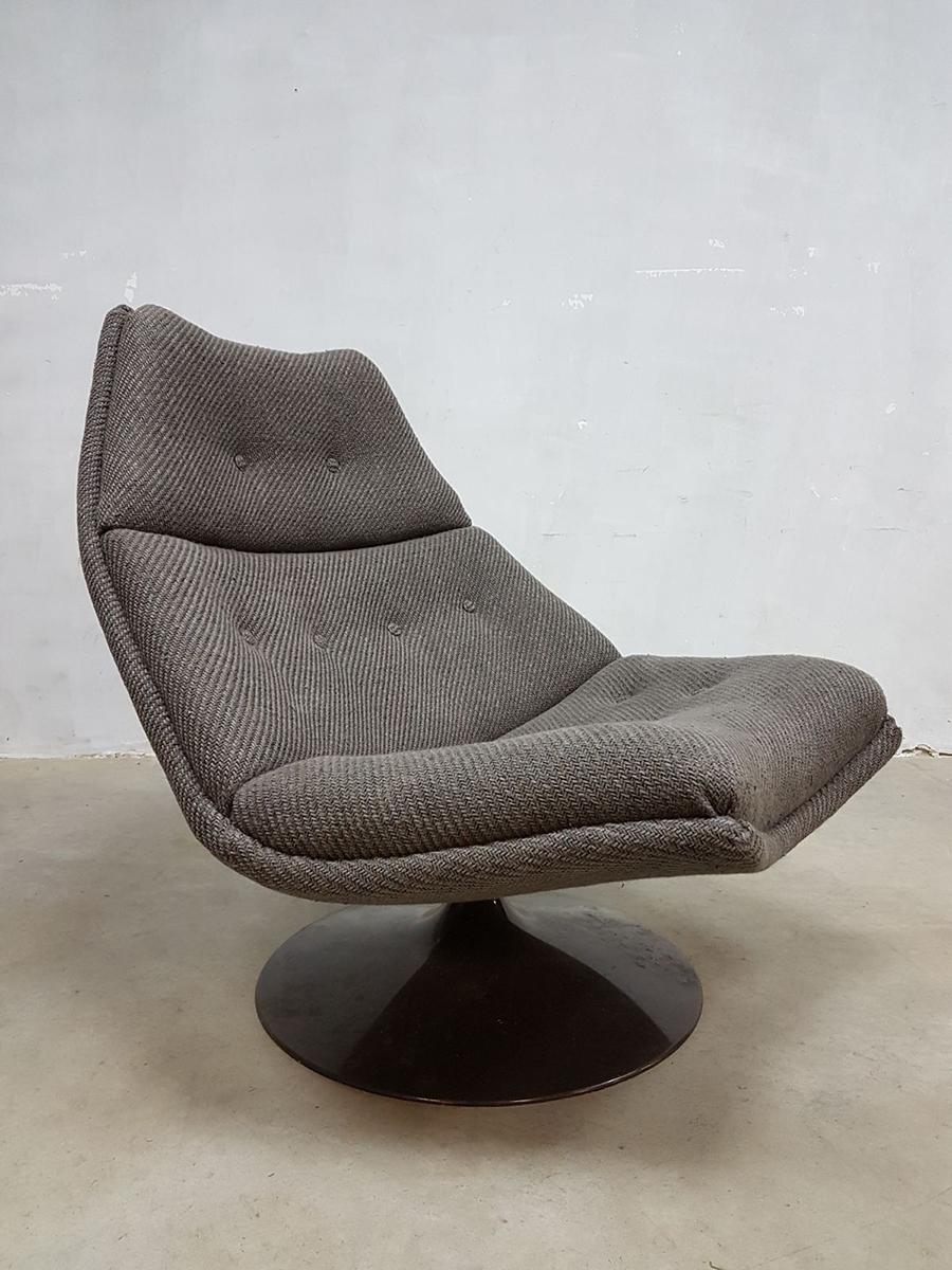 Vintage Stoel Artifort.Vintage Draaifauteuil Artifort Swivel Chair Fauteuil F511
