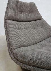 midcentury modern lounge chair Artifort Harcourt ploeg fabric sixties