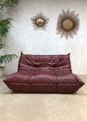 Vintage design bank sofa leren leatherTogo Ligne Roset Michel Ducaroy