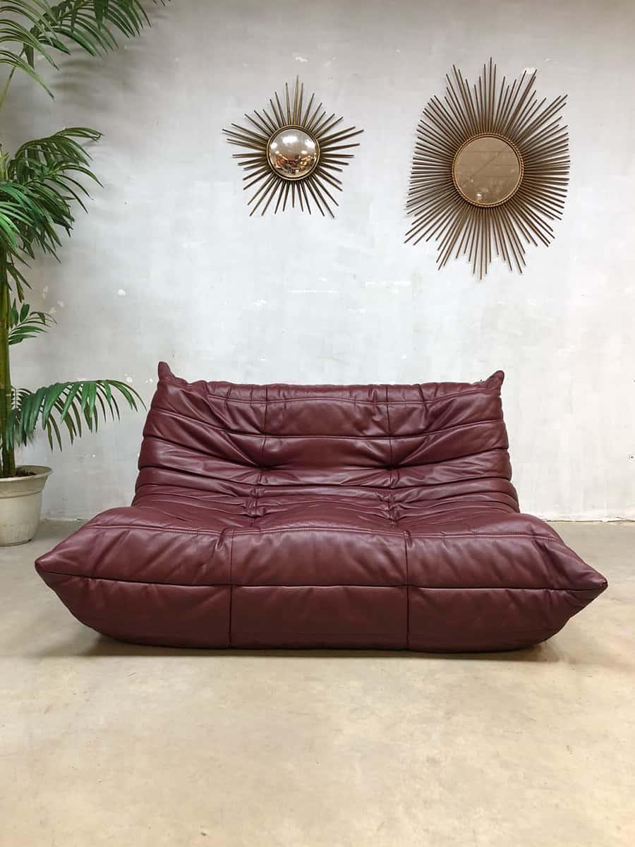 Design Bank Rood Leer.Vintage Leren Design Bank Sofa Togo Ligne Roset Michel Ducaroy