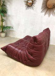 vintage leren lounge bank sofa retro Togo