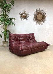 Vintage leren design bank sofa Togo Ligne Roset Michel Ducaroy