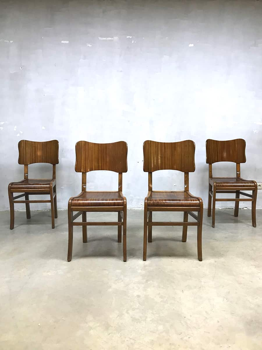 Vintage Eetkamerstoelen Dinner Chairs Art Deco Style