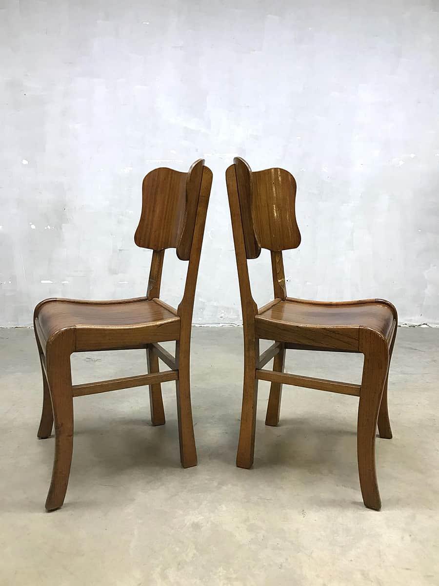 Art Deco Kuipstoelen.Vintage Eetkamerstoelen Dinner Chairs Art Deco Style